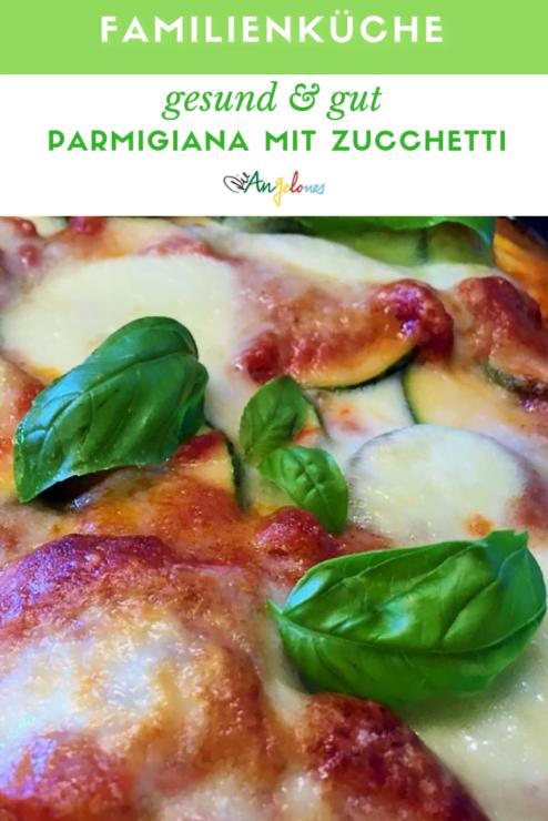 Es gibt in der süditalienischen Küche einen ganz besonderen Auflauf: La Parmigiana! Dabei werden meist Auberginen mit Parmesan und Tomatensauce schichtweise in einer Form im Ofen gebacken. Man kann die Parmigiana aber auch mit Zucchetti machen!