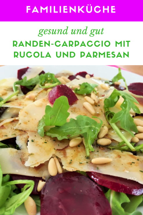 Randen Carpaccio mit Rucola und Parmesan