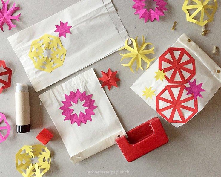 Scherenschnitte Geschenk Verpackung Tisch Deko