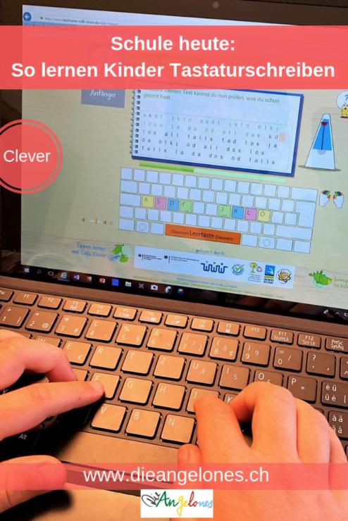So lernen Kinder heute mit dem Tablet Tastaturschreiben.