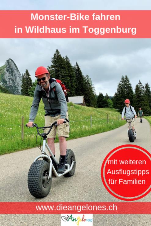 Familienferien im Toggenburg: Monsterbike fahren in Wildhaus