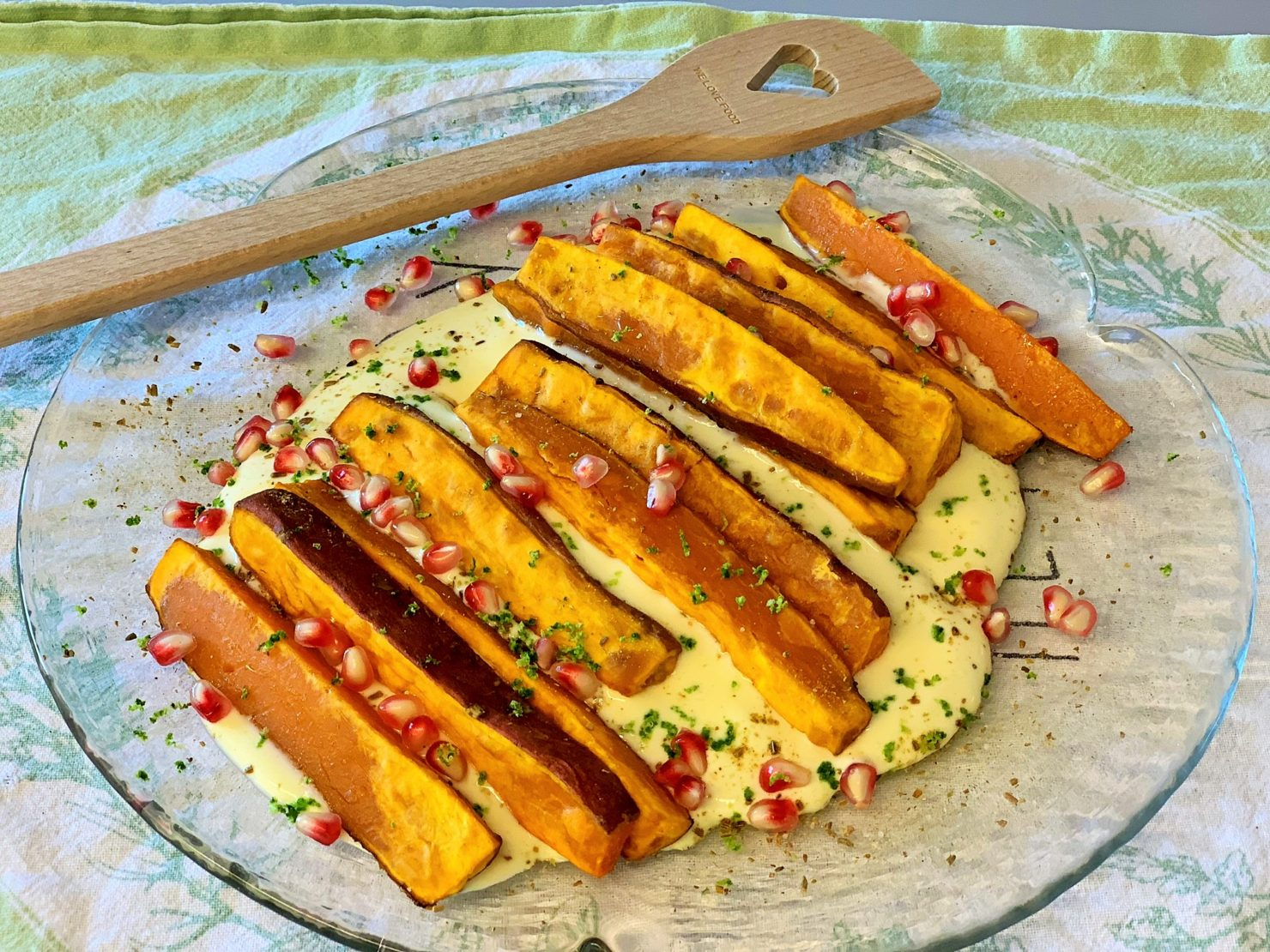 Süsskartoffeln mit Pfeffersauce - vegetarisch, frisch und fein