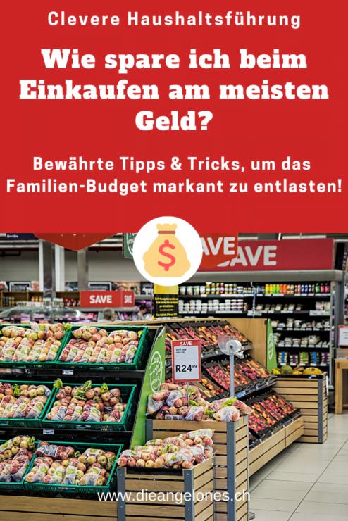 Einkaufen ist ein wichtiges Thema in Familien. Beachten wir ein paar clevere Tipps und Tricks können wir beim Einkaufen viel Geld sparen und das Familienbudget markant entlasten.