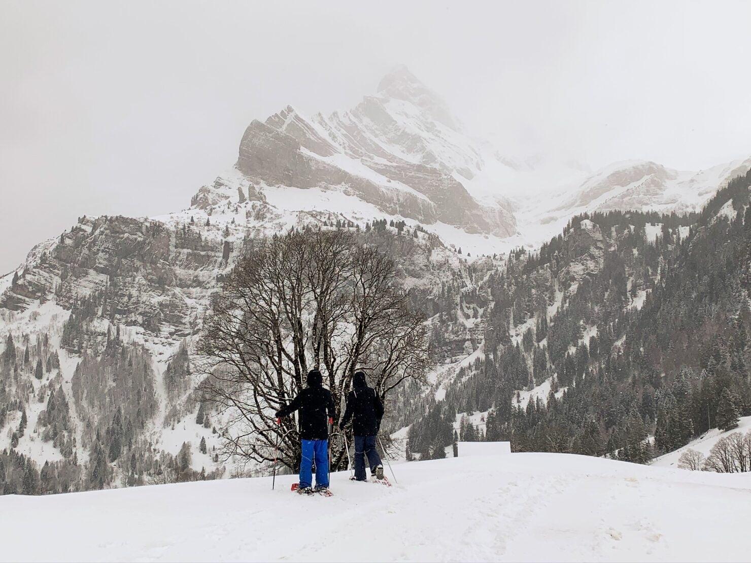 Schneeschuhwandern in Braunwald - auch für Kinder ein grossartiges Erlebnis