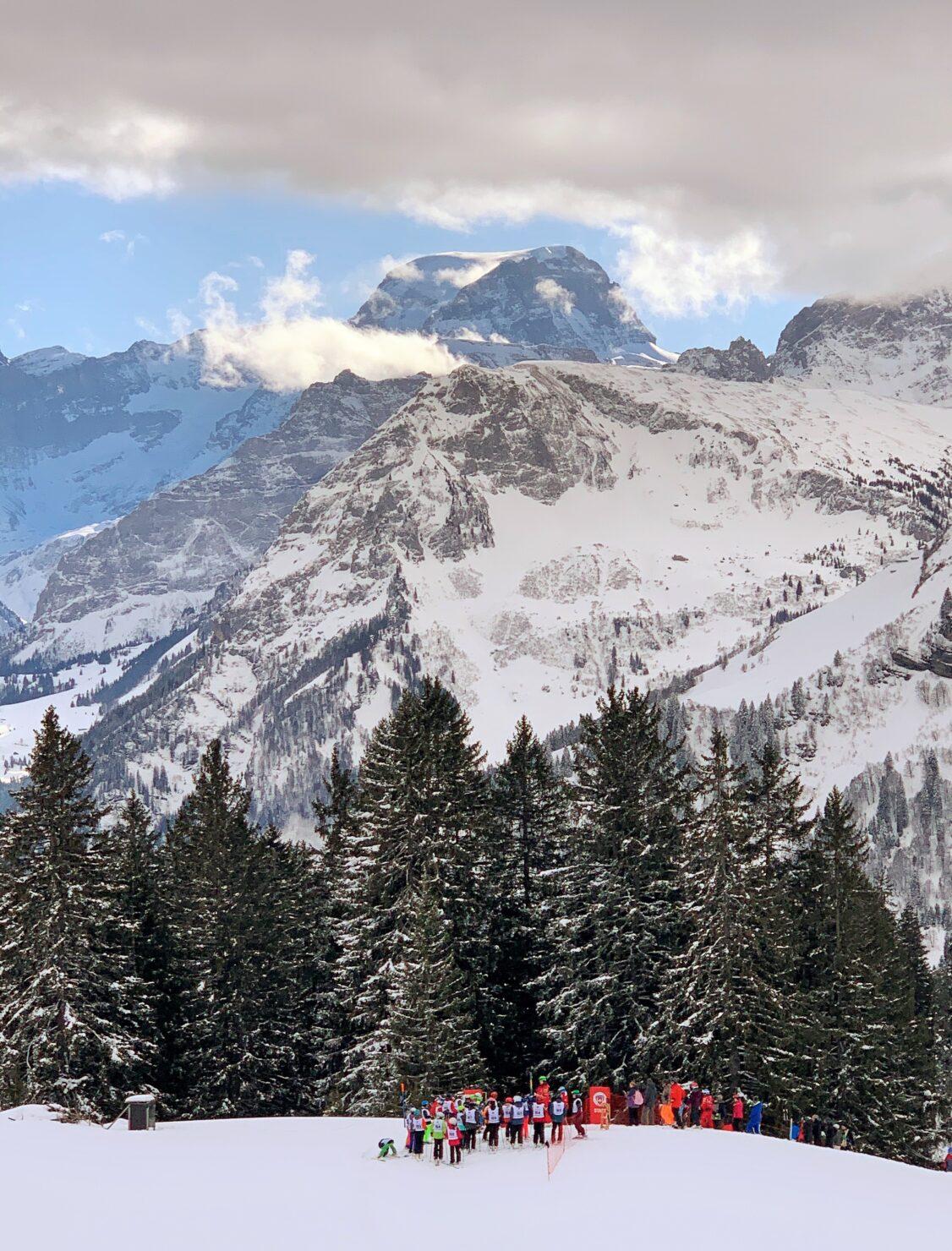 Das Highlight nach einer Woche Skischule: Das Abschlussrennen der Schneesportschule Braunwald