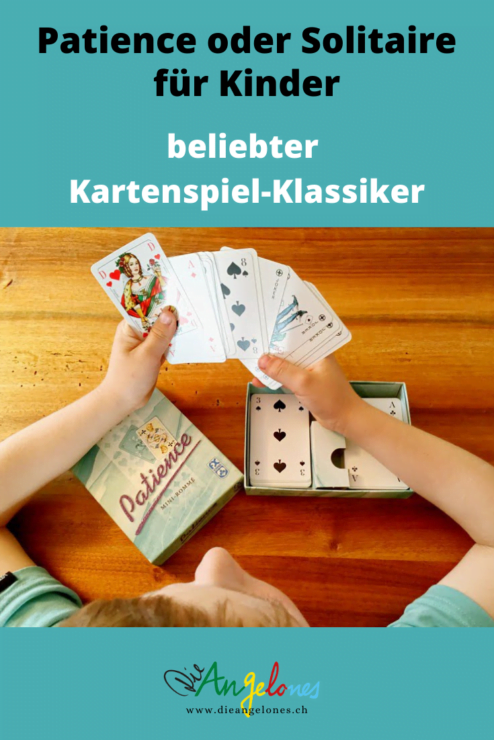 Patience bzw. Solitaire ist ein toller Spielklassiker mit Karten, den auch Kinder problemlos spielen können. Das Beste: Das Kartenspiel fördert die Geduld und die Konzentration und kann alleine gespielt werden.