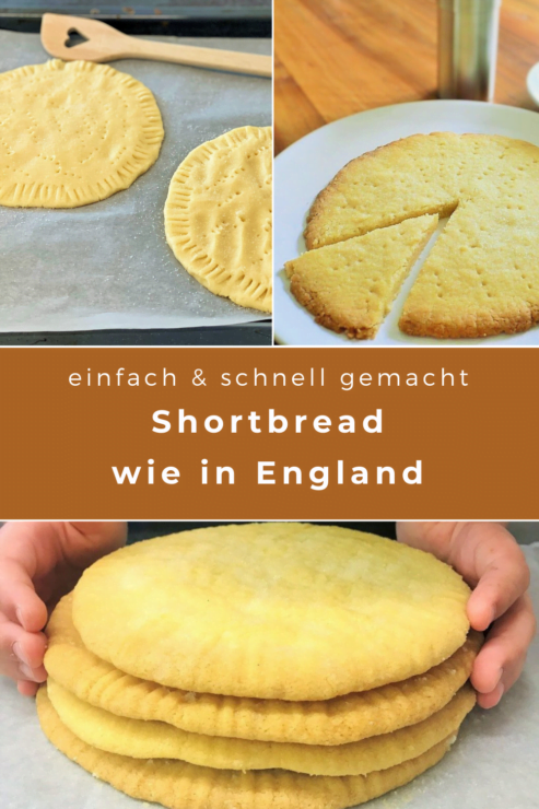 Shortbread backen geht einfach und schnell. Die Zutaten hat man immer zu Hause und in weniger als einer halben Stunden ist es gebacken!