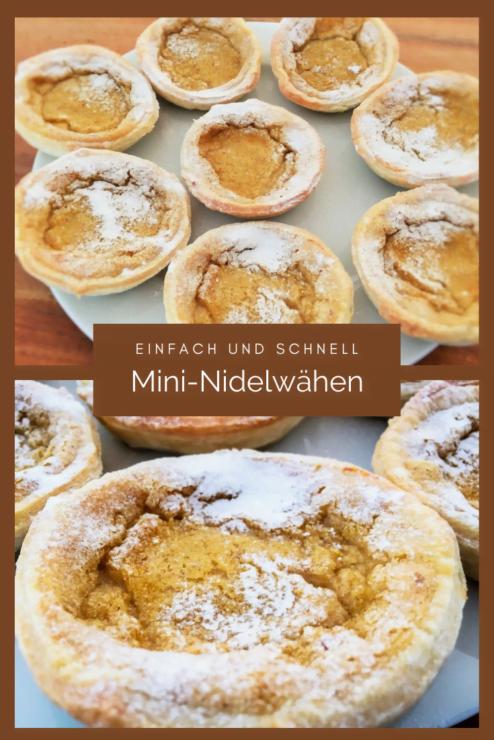 Mini-Nidelwähen wie aus Grossmutters Zeiten sind einfach und schnell gemacht. Die kleinen Rahmfladen sind ein Schweizer Klassiker!