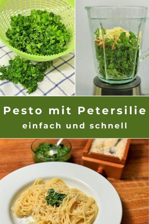 Petersilien-Pesto ist einfach und schnell gemacht und stellt eine tolle Alternative dar für alle, die Basilikum-Pesto nicht mögen. Unser Rezept ist einfach und schnell gemacht.