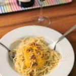 Spaghetti mit Rüebli-Sauce