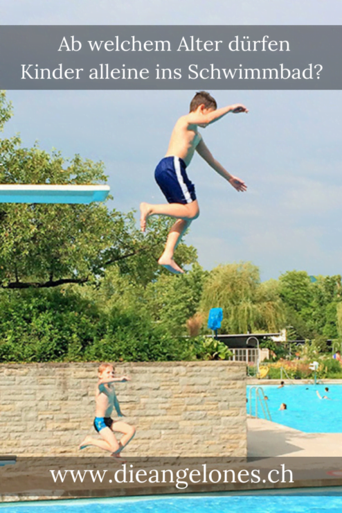 Kinder alleine im Schwimmbad