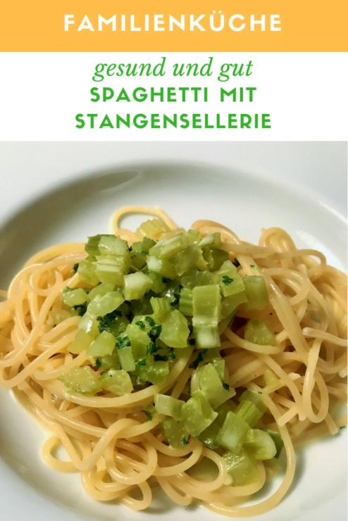 Spaghetti mit Sellerie Sauce