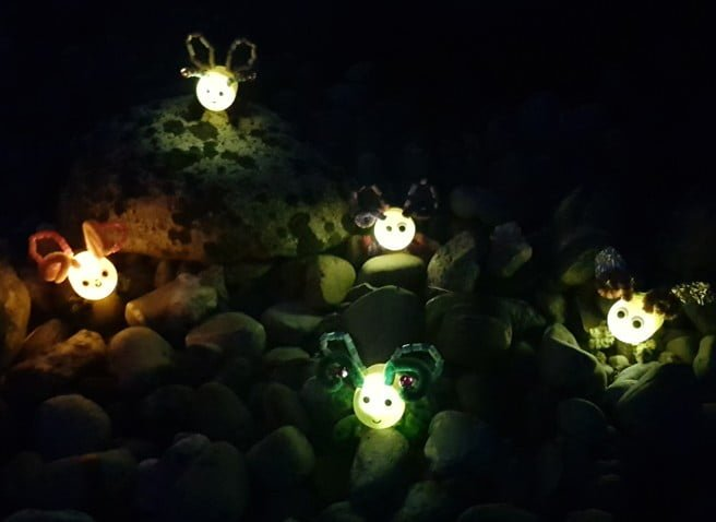 Glühwürmchen aus Kindereiern