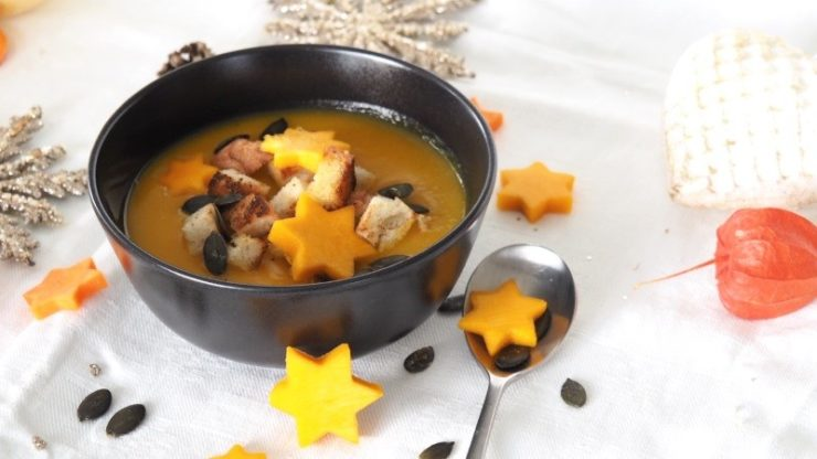 Weihnachten Orangen Kürbis Ingwer Zimt Suppe
