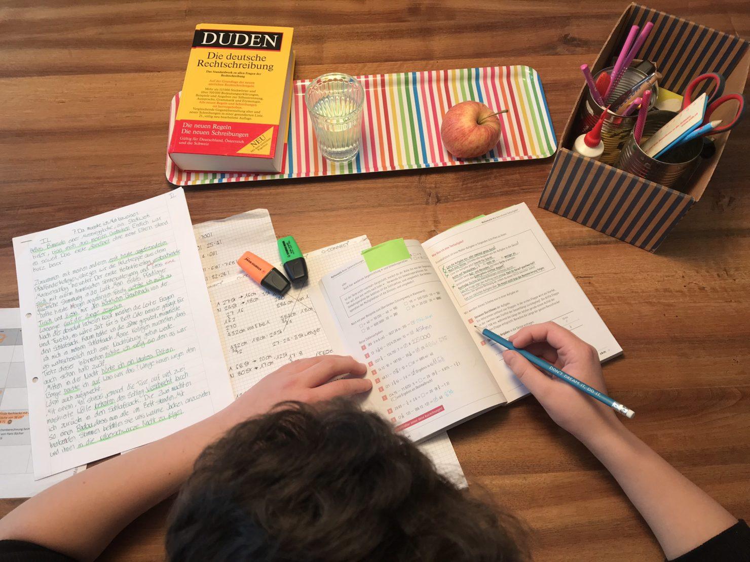 Hausaufgaben über Die Ferien