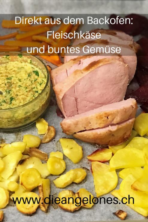 Fleischkäse mit Gemüse aus dem Backofen ist nicht nur sehr schnell zubereitet, sondern auch fein und gesund. Ein perfektes Familiengericht!