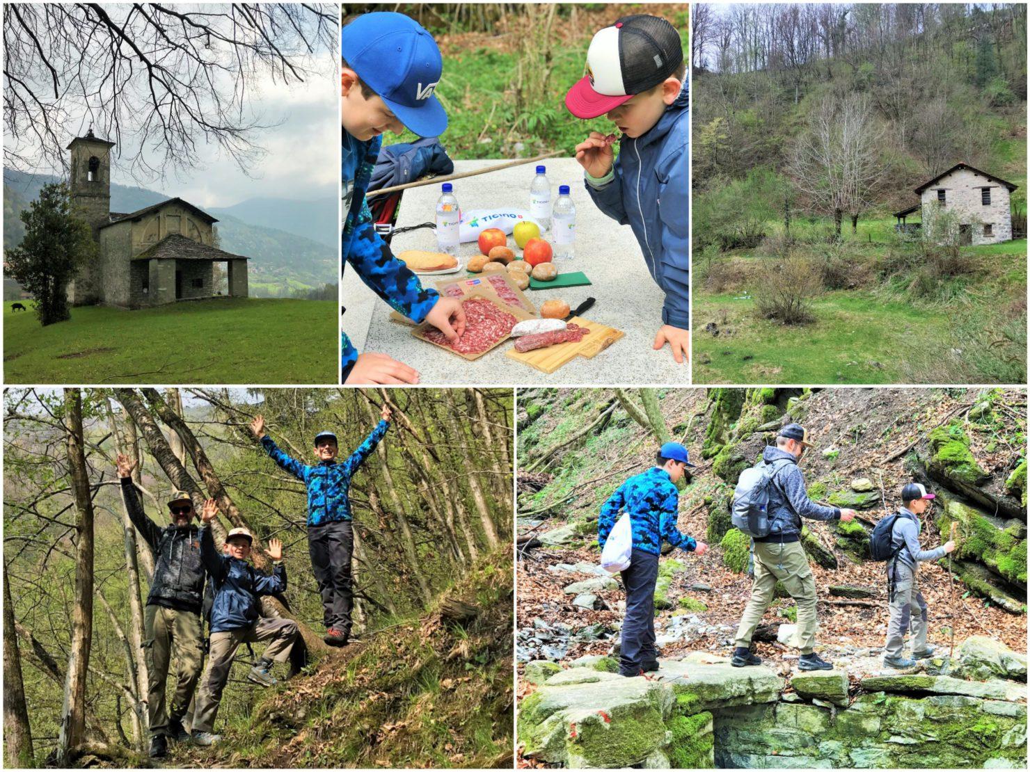 Familienferien im Tessin Wandern durch das Muggiotal