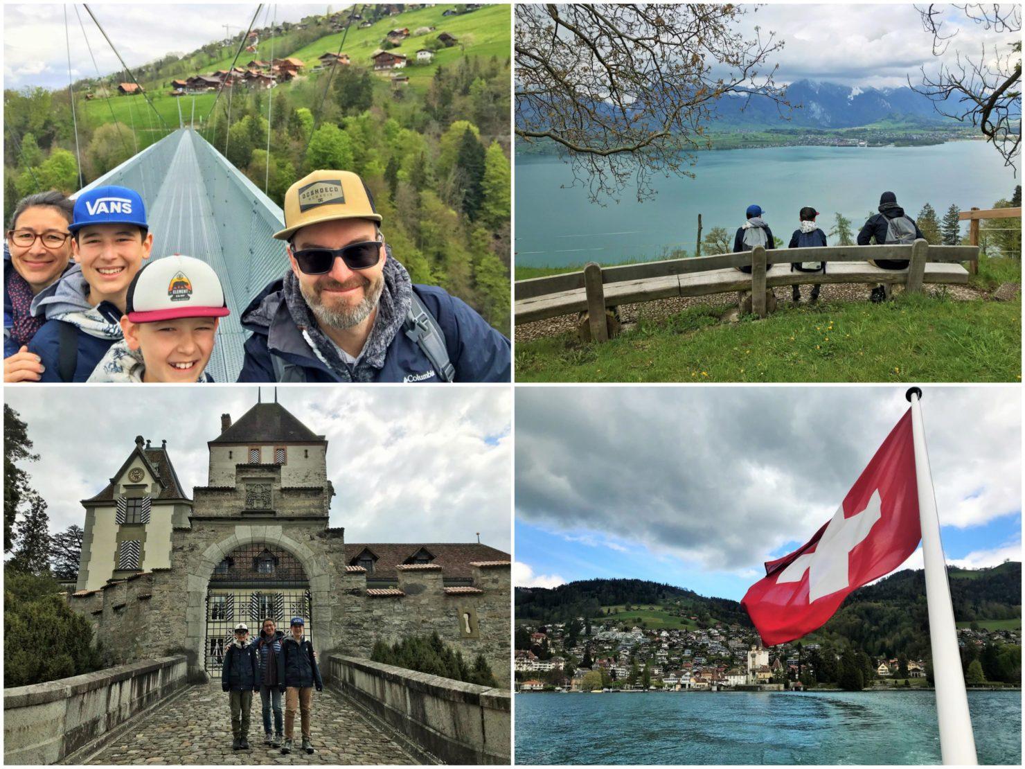 TCS Camping Thun Glamping in den Swiss Tubes und Besuch der Hängebrücke Sigriswil