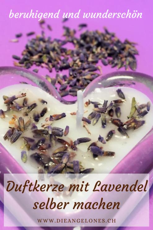Lavendel-Duftkerzen selber zu giessen, geht einfach und schnell. Dafür suchen wir in der Brockenstube nach schönen Gläschen, die wir mit dem Wachs zusammengeschmolzener Kerzenresten neu abfüllen und mit Lavendelblüten sowie Lavendelöl ergänzen.
