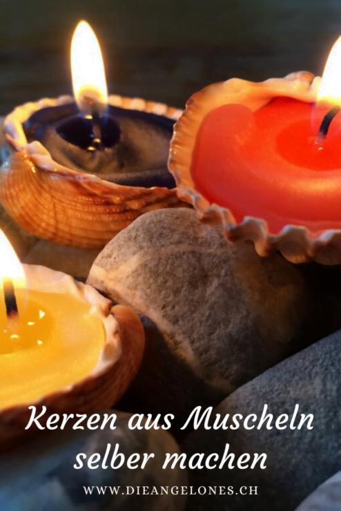 Aus Muscheln lassen sich einfach und schnell schöne Kerzen aus Kerzenresten machen. Die Muschel-Kerzen sind nicht nur schnell und einfach gemacht, sondern sehen sowohl in schlichtem weiss als auch in kunterbunten Farben wunderschön aus - sei es als Tischdeko für sich selber, sei es als Geschenk zu jeder Gelegenheit.