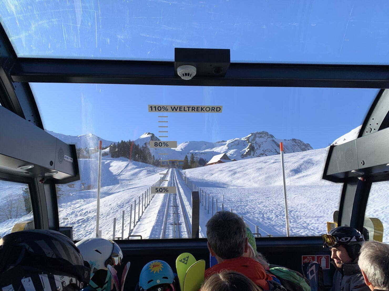 Steilste Standseilbahn der Welt: Nur schon der Aufstieg auf den Stoos ist einen Ausflug wert!