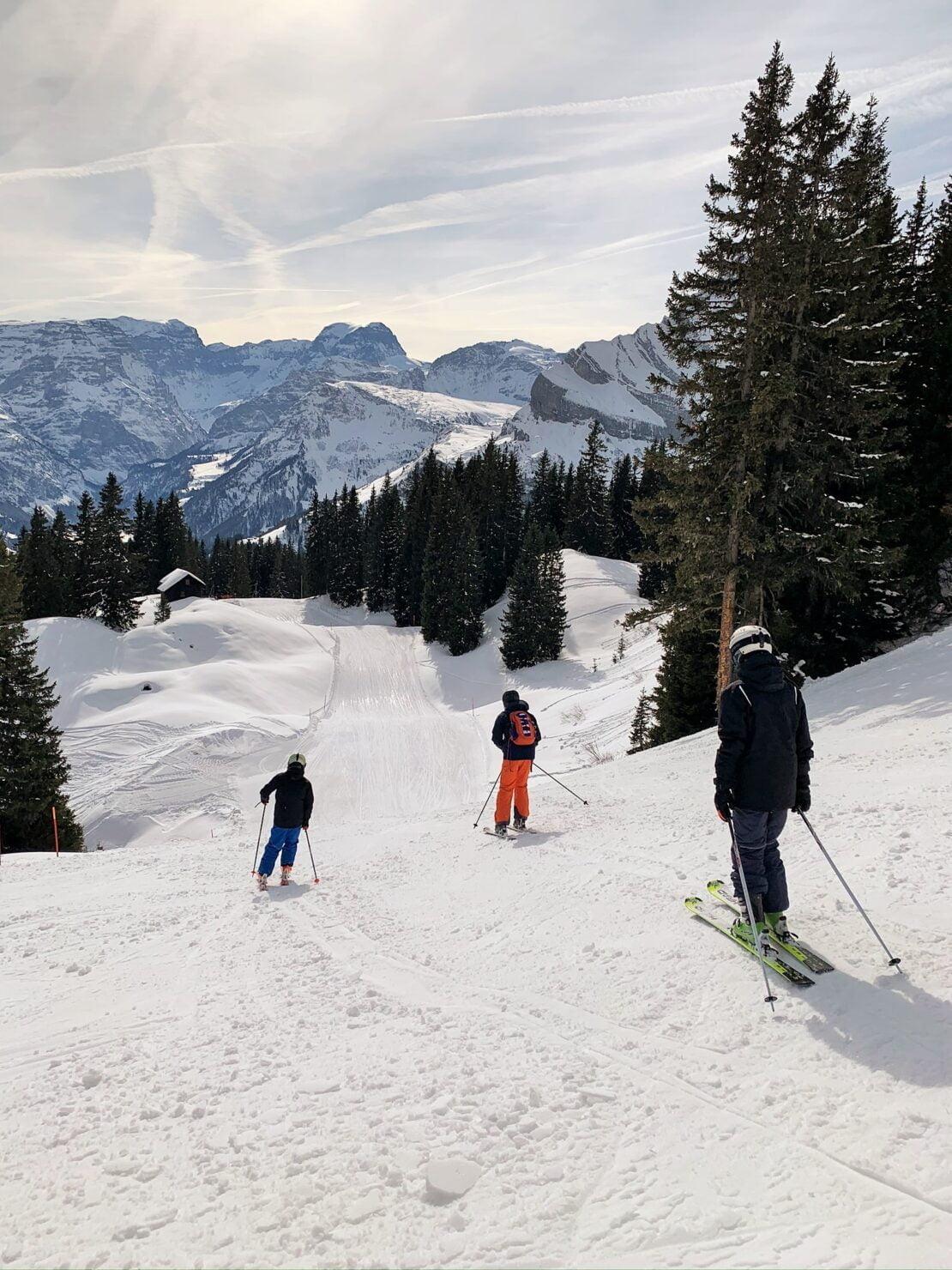 Skifahren in Braunwald auf familienfreundlichen Skipisten
