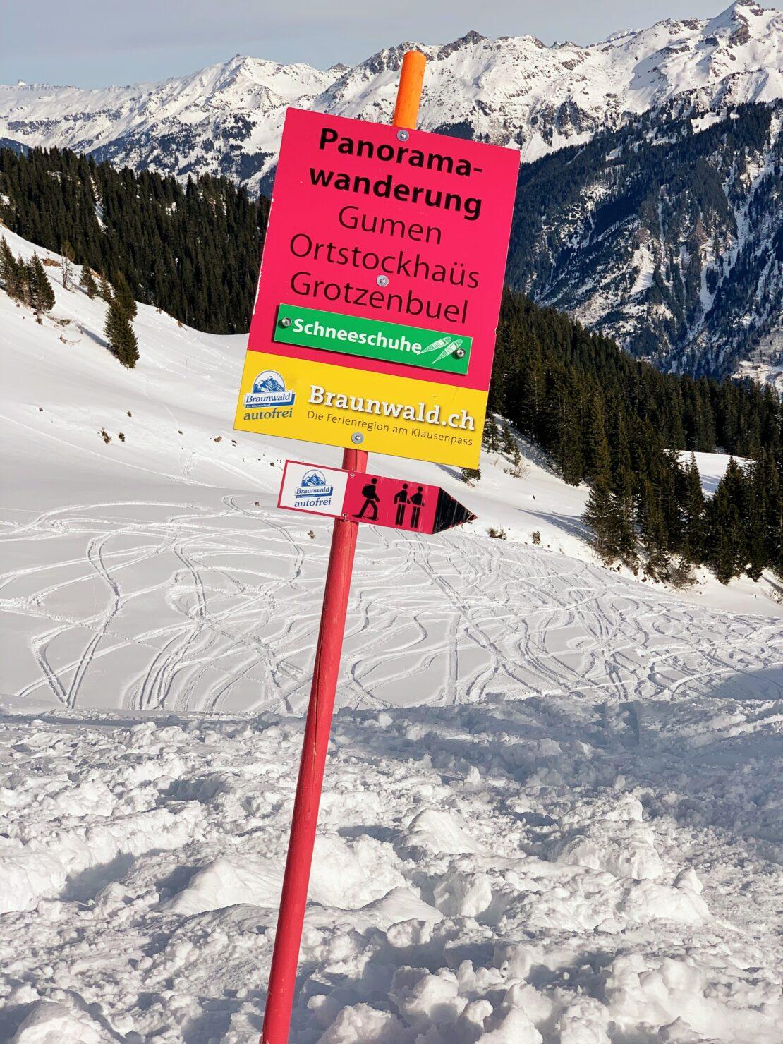 Winterwandern in Braunwald geht auch mit Kindern