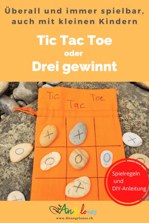 Kennt ihr das witzige Strategie-Spiel Tic Tac Toe bzw. Drei gewinnt? Das Spiel ist auch bekannt als XXO, Kreis und Kreuz, Dodelschach oder Noughts and Crosses. Es ist ein klassisches, einfaches Zweipersonen-Strategiespiel, dessen Geschichte sich bis ins 12. Jahrhundert v. Chr. zurückverfolgen lässt! Tic Tac Toe kann man auch mit kleinen Kindern spielen und man kann sich ein Drei Gewinnt-Spielset einfach und schnell selber basteln.