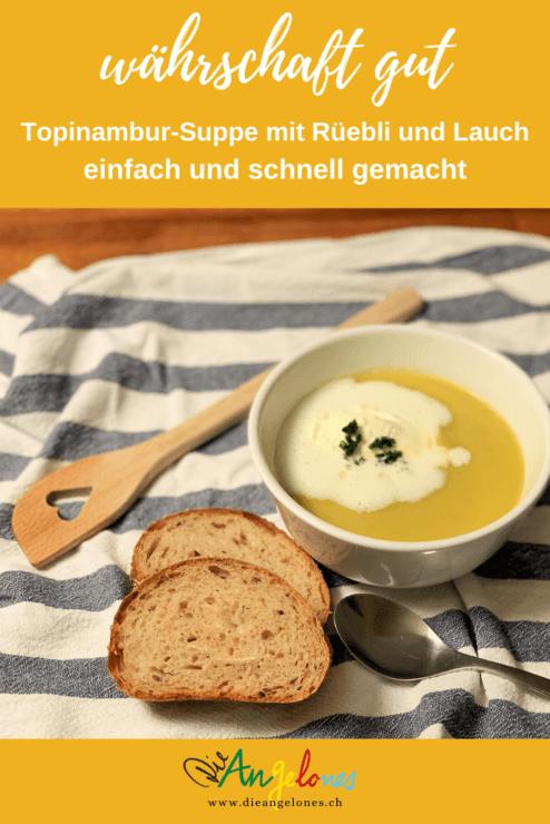 Suppen kochen geht einfach und schnell. Hausgemachte Suppen sind fein und man weiss, was drin ist. Die Suppe mit Topinambur und Rüebli schmeckt garantiert der ganzen Familie!