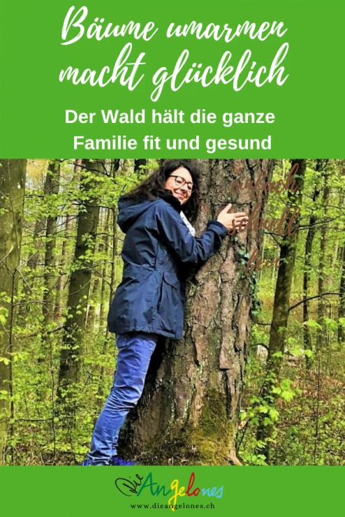 Der Wald tut Kindern und Eltern gut, der Wald macht gesund und froh. Insbesondere Bäume umarmen entspannt und macht glücklich!