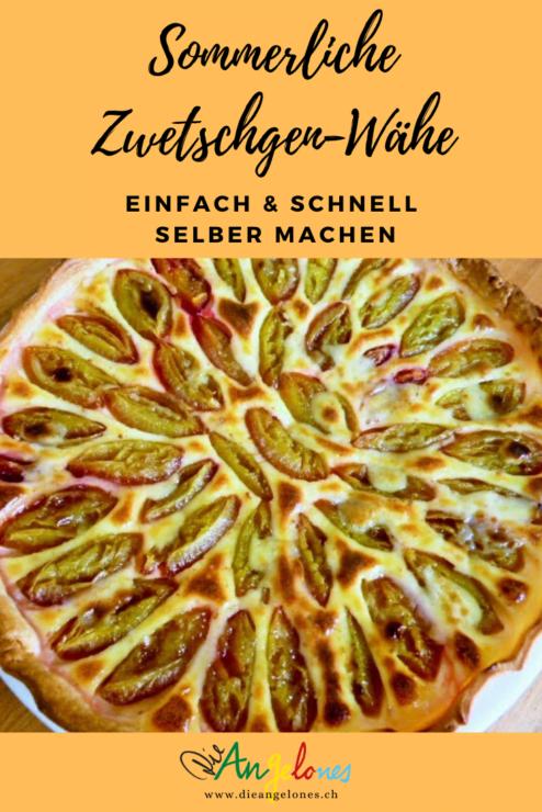 Die Zwetschgen-Wähe ist im Sommer ein Schweizer Klassiker auf dem Familientisch. Unser Rezet ist gelingsicher und kann für jede Art von Früchten eingesetzt werden.