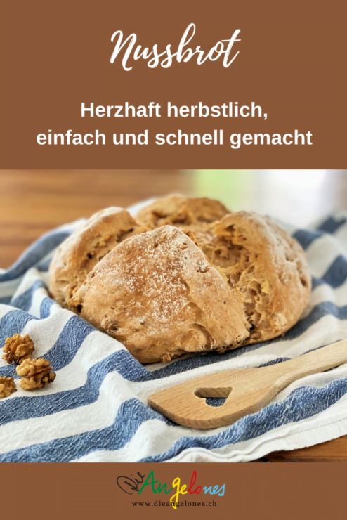 Dieses Nuss-Brot ist nach unserem Rezept einfach und schnell gemacht. Es ist herbstllich und währschaft und schmeckt der ganzen Familie gut. Mit einer Suppe ergibt das Brot eine nährende und günstige Mahlzeit für die ganze Familie.