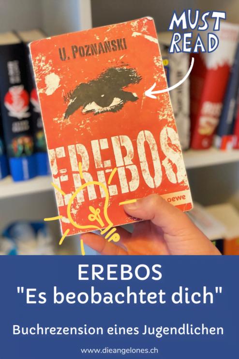 """Mit """"Erebos"""" schafft Ursula Poznanski eine Welt, die von den Schattenseiten des Internets beeinflusst wird. Der Titel des Romans, der sowohl für Jugendliche und Erwachsene geeignet ist, soll an Erebos, den Gott der Finsternis in der griechischen Mythologie, erinnern. Er hat zahlreiche Auszeichnungen erhalten, darunter den Deutschen Jugendliteraturpreis der Jugendjury 2011. Er wurde rund 850.000 Mal verkauft und in 30 Sprachen übersetzt. Unser Grosser hat das Buch gelesen und eine Rezension geschrieben."""