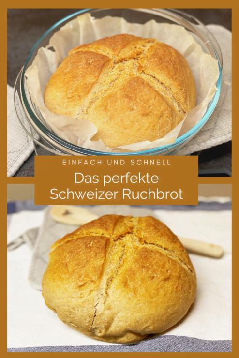 Das Ruchbrot ist das beliebteste Brot in der Schweiz. Ein Ruchbrot selber backen, geht einfach und schnell.