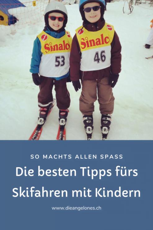Skifahren mit Kindern macht Spass, wenn Eltern ein paar Grundsätze beachten. Mit der richtigen Ausrüstung sowie Geduld und Humor gelingt es!