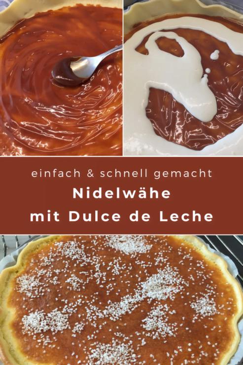 Die Nidelwähe ist ein Schweizer Klassiker. Mit Dulce de Leche wird sie für einmal neu interpretiert und schmeckt besonders süss.