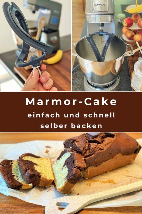 Rasch einen Marmorcake backen? Das gelingt mit der Kenwood-Backmaschine einfach und bequem. Als Alternative darfs auch einmal mit der Zugabe von einer Banane sein! Das macht den Cake besonders saftig und zu einem tollen Restenverwerter!