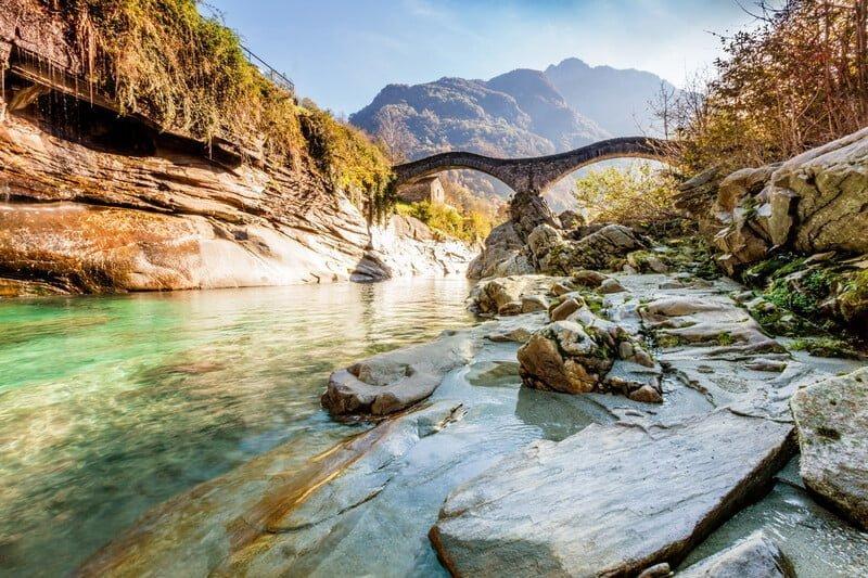 Seen, Flüsse und Wasserfälle im Tessin