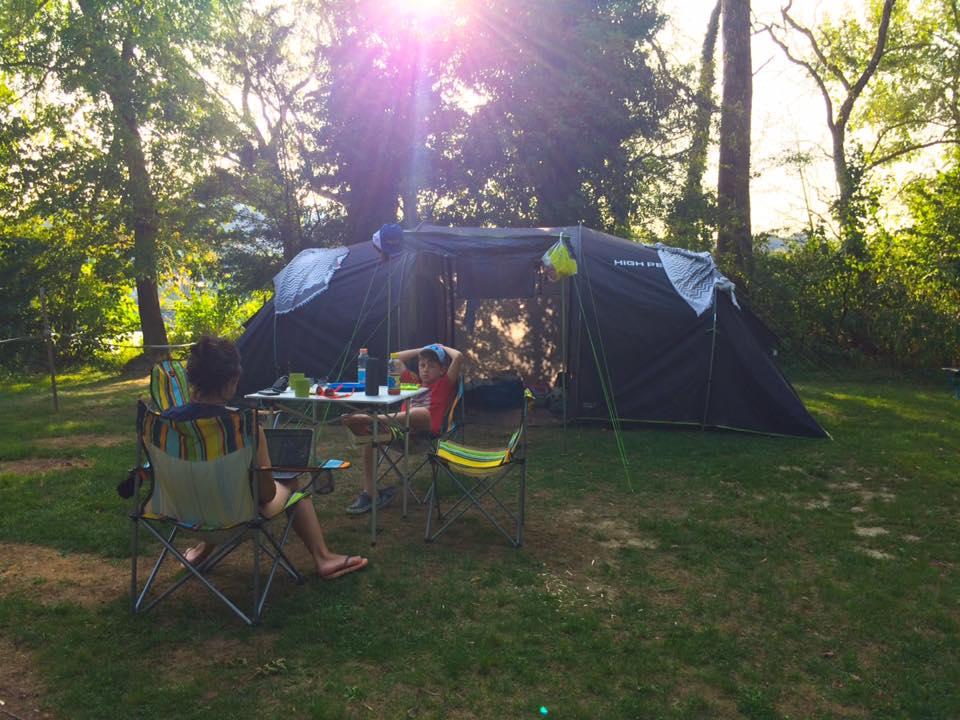 Camping Ferien Familie