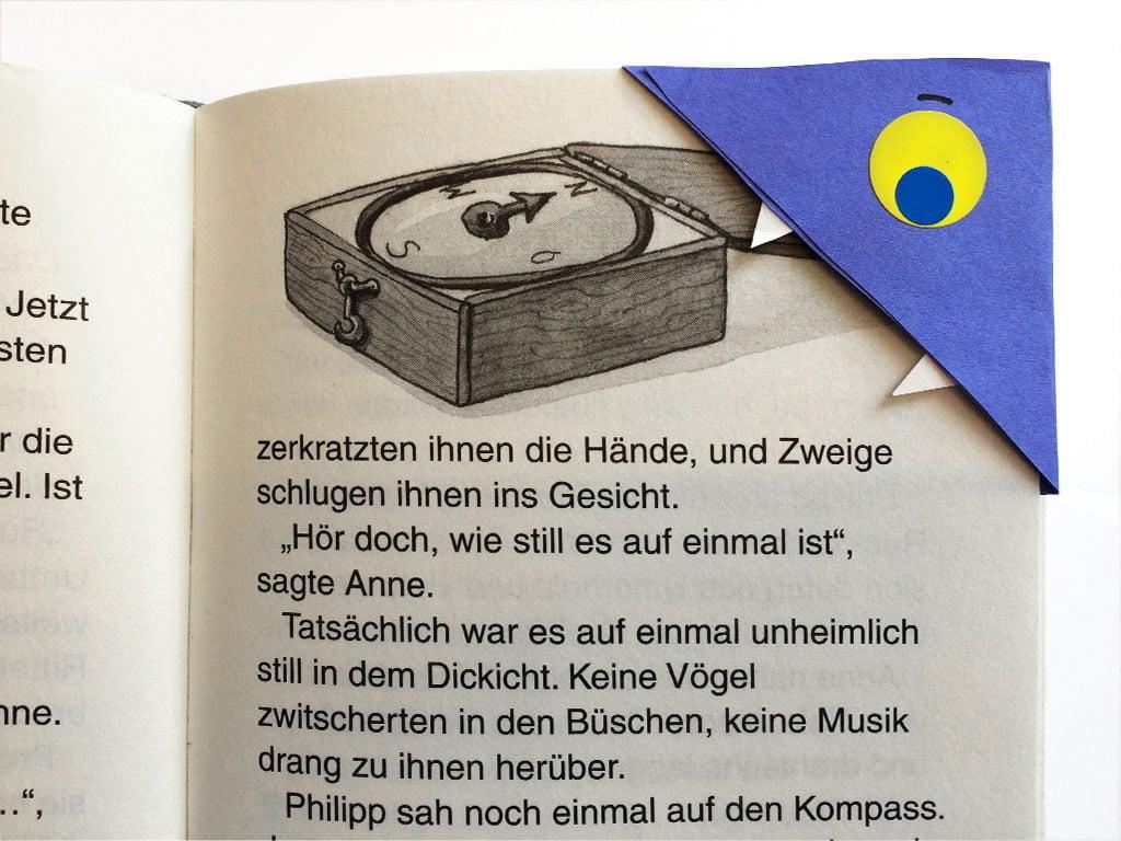 Buchzeichen selber machen für Bücherwürmer