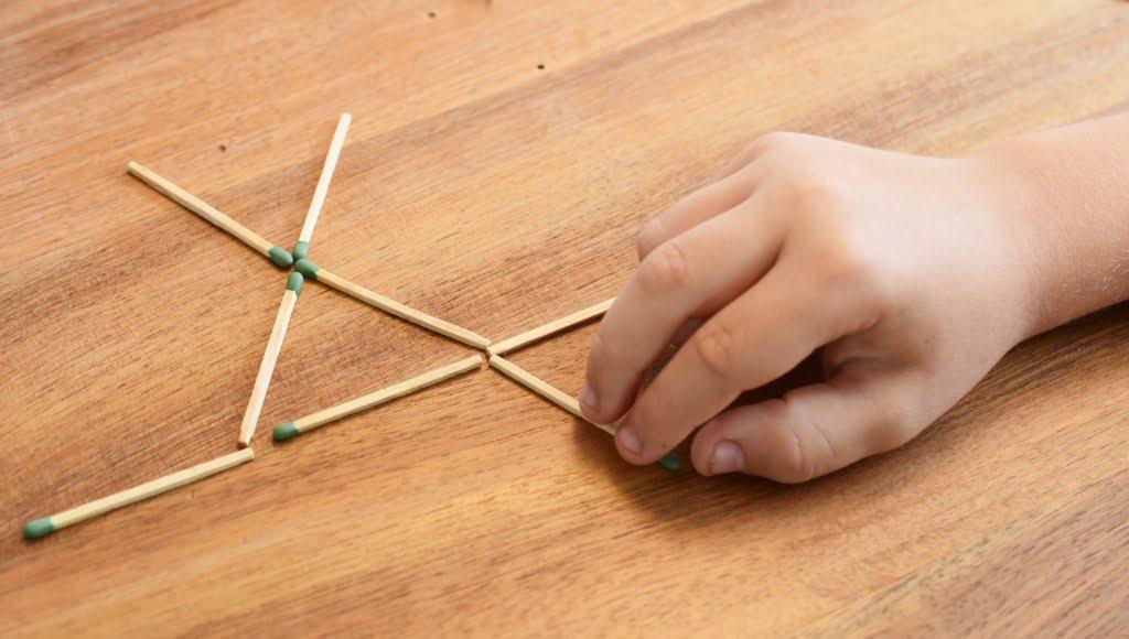 Streichholzspiele - Knobeleien und Denksportaufgaben für Kinder