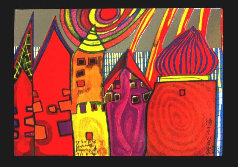 High Houses Painting Hundertwasser
