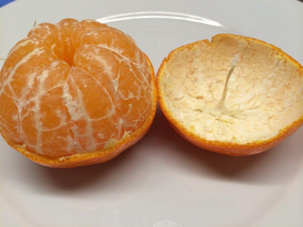 Öl-Kerzen aus Mandarinen