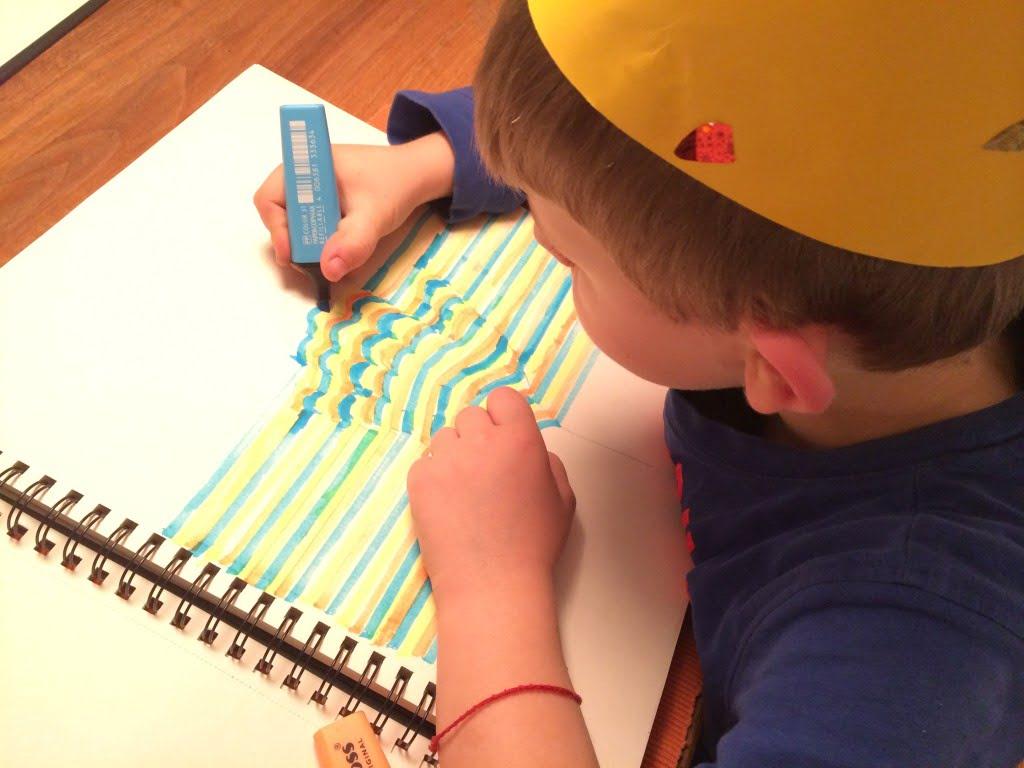 Hand malen mit 3D Effekt