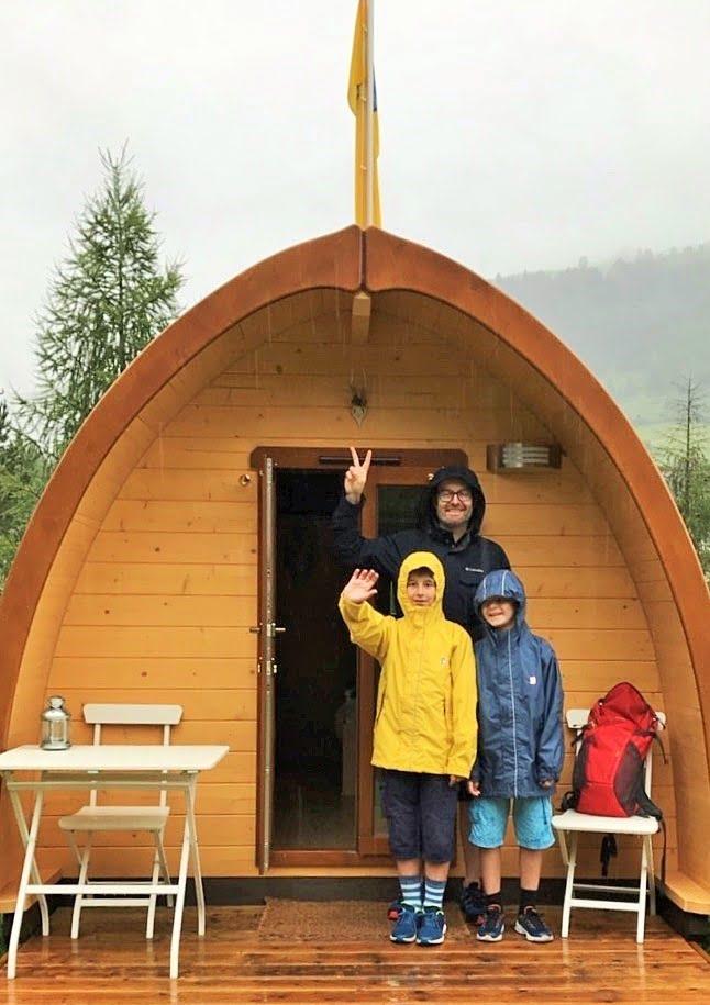 Glamping mit der Familie in Scuol im Engadin