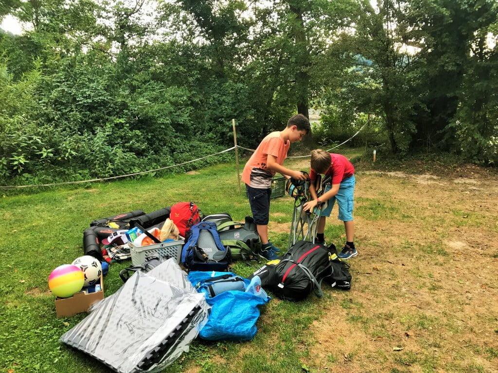 Zelten Campieren am Rhein