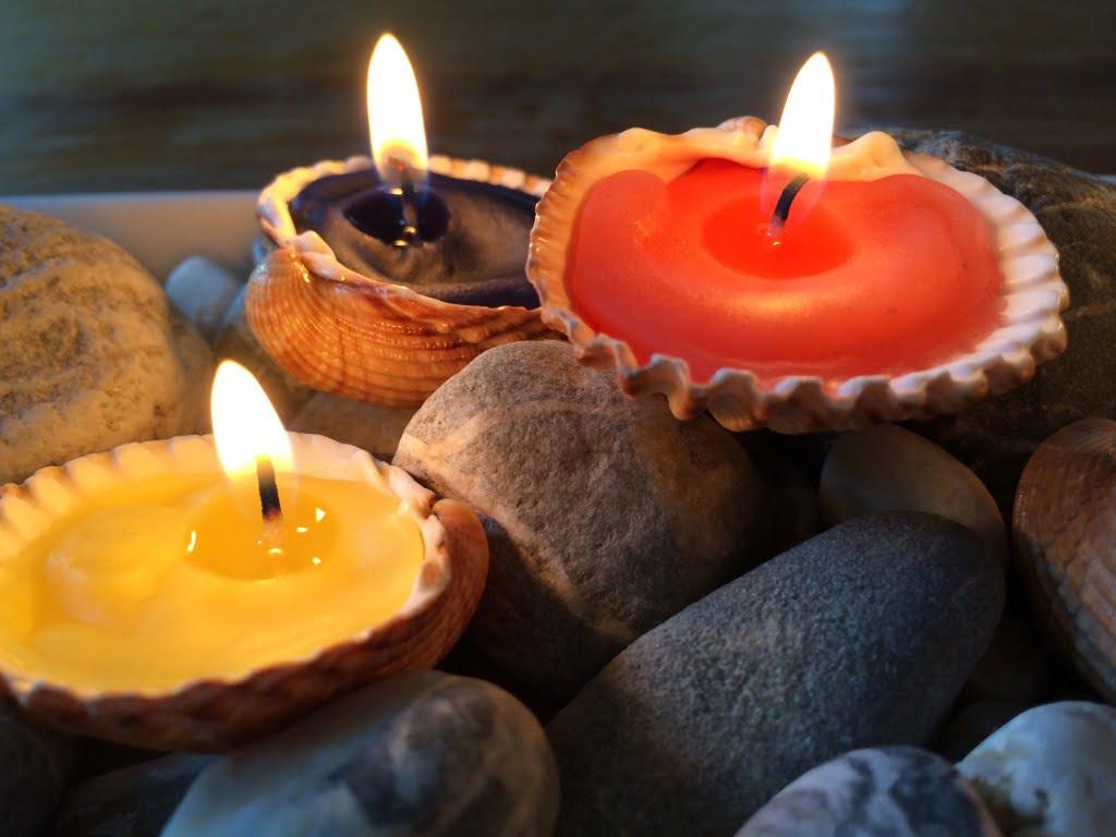 Kerzen Muscheln