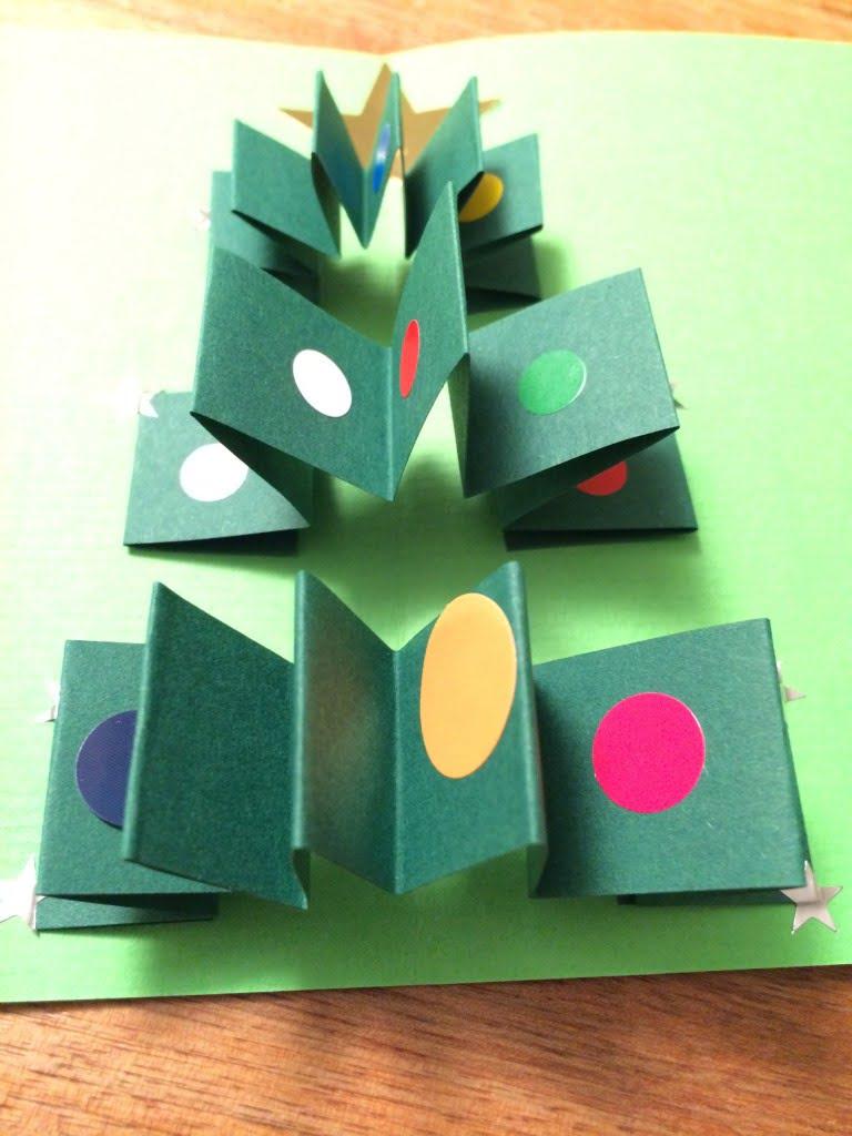 Weihnachtskarten selber machen mit Kindern