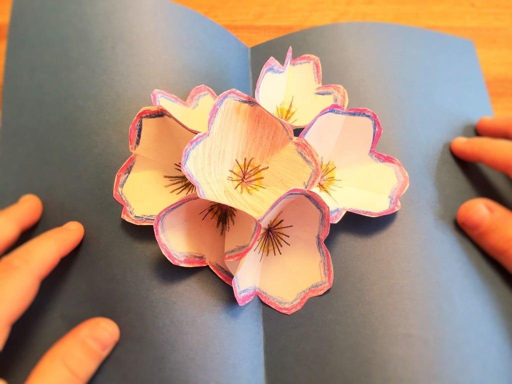 Pop-Up Karte mit Blumen basteln