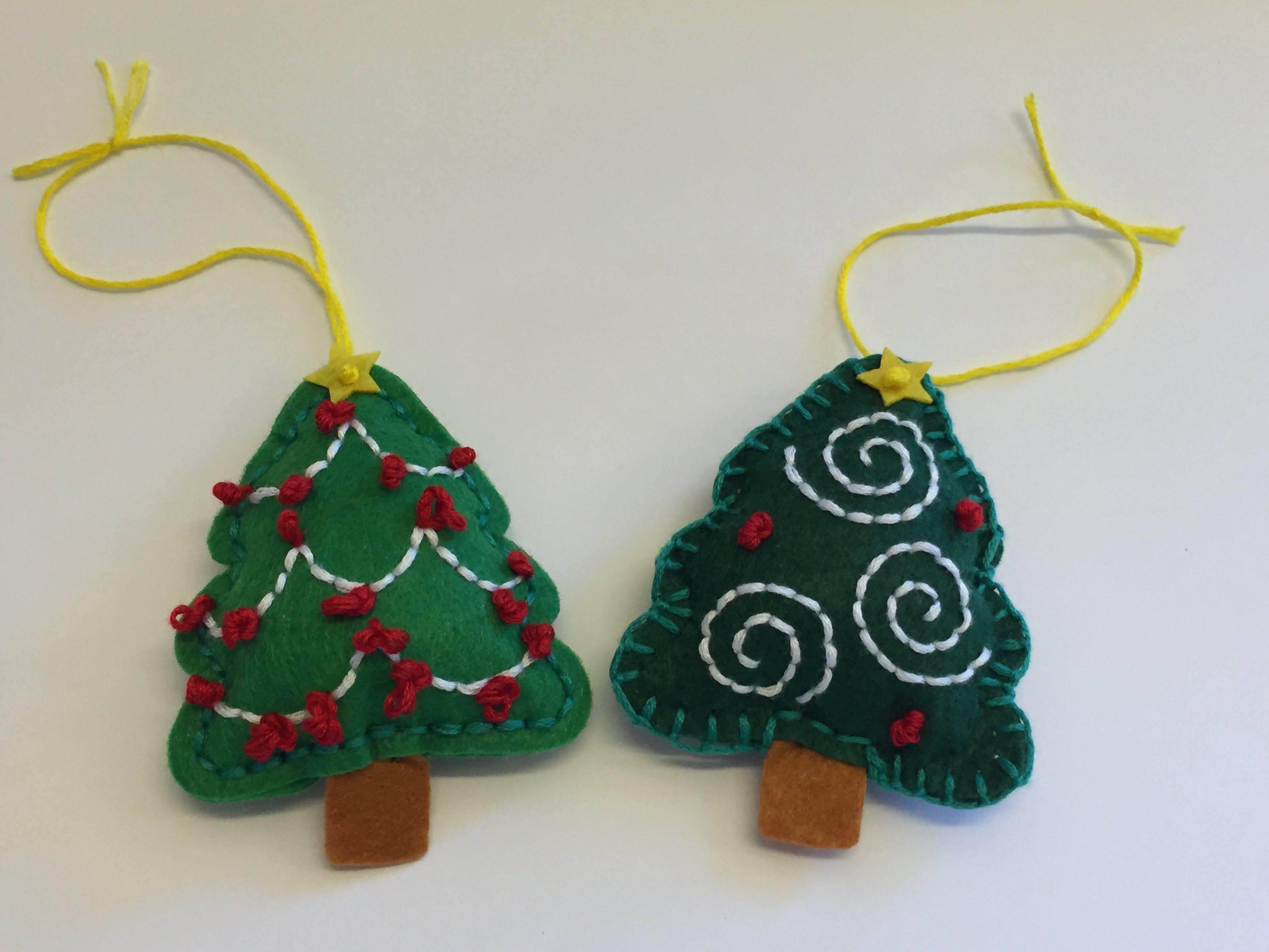 Weihnachtsbaumschmuck aus Filz